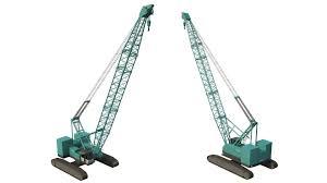 kobelco crawler crane 3d cgtrader