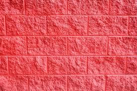 Red Powder Room Interior Decorative Cinder Blocks Retaining Wall Powder Room