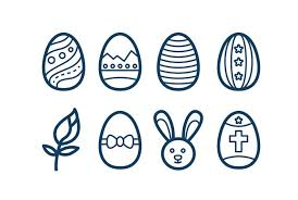 vector clipart for easter day easter icon sets ornaments and