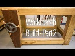 roubo style woodworking bench part 2 youtube