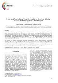 design and fabrication of auto air conditioner generator utilizing
