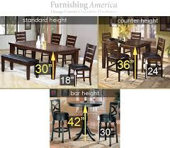 dining room table measurements counter height vs standard vs bar height comparison guide