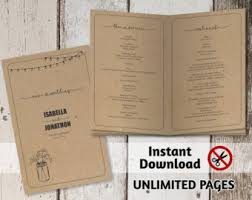 wedding booklet templates other wedding templates instant invitation