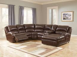 remarkable leather sectional sofa with power recliner 49 in modern