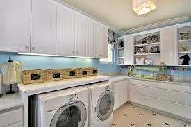 decorations small laundry room idea with green paint wall color