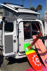jeep with surfboard nissan nv200 recon camper van review
