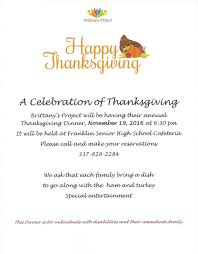 events happy thanksgiving project a facility for