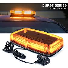 snow plow strobe lights xprite burst series 12v cob led amber yellow roof top emergency