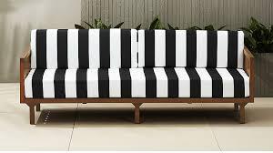 Black And White Patio Furniture Tropez Black And White Stripe Outdoor Sofa Cb2