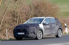 spied hyundai kona caught testing interior shown motor trend