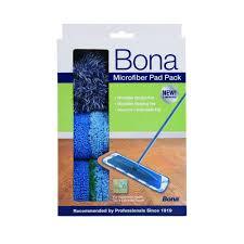 Bona Laminate Wood Floor Cleaner Bona Microfiber Pad Pack 3 Pack Ax0003496 The Home Depot