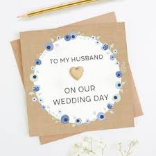 For My Husband On Our Wedding Day Cards For Husband
