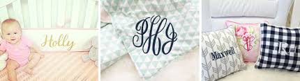 Monogrammed Comforters Monogrammed Crib Bedding To Add Style To Your Nursery Caden Lane