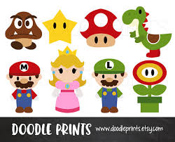 mario bros clipart digital clip art printable super mario