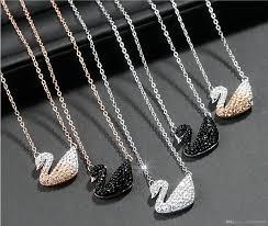 sterling gold necklace images Wholesale sterling silver black swan necklace female rose gold jpg