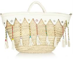 where to buy raffia finds en shalla embellished raffia and leather tote where to buy