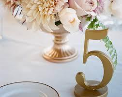 gold wedding table numbers table numbers for wedding party or event gold or silver