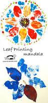 leaves prints mandalas craft autumn mandalas