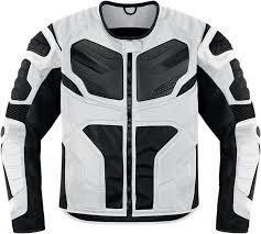 white motorcycle jacket icon overlord resistance textile motorcycle jacket white