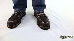 thorogood boots men u0027s brown 814 4266 moc toe usa made wedge boots