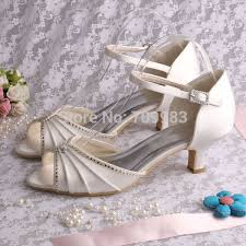 wedding shoes low heel ivory individually handmade ivory satin wedding shoes low heel open toes