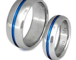 thin line wedding ring thin blue line band etsy