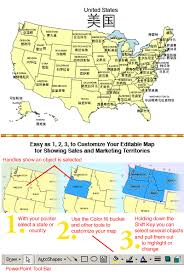 usa map with names usa map with names powerpoint map maps for design