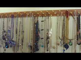 jewelry holder necklace images Quick and easy necklace and jewelry organizer jpg