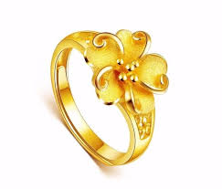 flower gold rings images 24ct yellow gold flower ring rings for women pinterest rings jpg