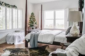 White Christmas House Decor by White Christmas Master Bedroom Maison De Pax