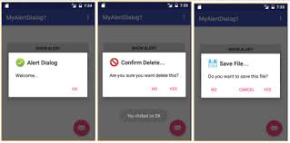 dialog android android development steps how to show alert dialog in android