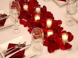 Where To Buy Rose Petals Beautiful Tablescape Simple White With Red Rose Petals
