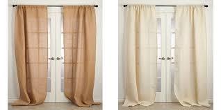 Burlap Looking Curtains Buy Burlap Curtains Rustic Style Curtain Panels
