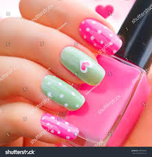 valentine nail art manicure valentines day stock photo 360539441