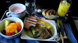 hd continental airlines food service in first class breakfast