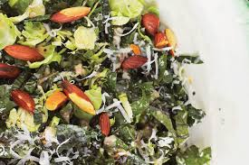 brussel sprouts for thanksgiving kale u0026 brussels sprout salad recipe epicurious com