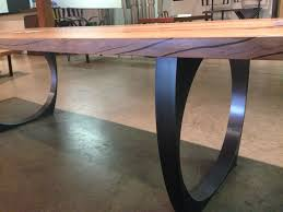 Wood Table With Metal Legs Best 25 Steel Table Legs Ideas On Pinterest Wood Steel Steel