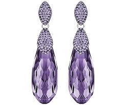 purple earrings height pierced earrings purple rhodium plating jewelry