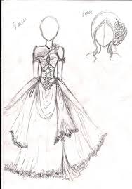 amnesia dress and hair sketch by jiunnie on deviantart