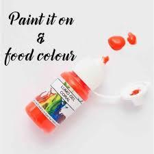 rolkem coral orange lumo sugarcraft edible cake decorating paint 15ml
