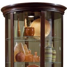 Pulaski Curio Cabinet Used Amazon Com Pulaski Half Round Curio 32 By 17 By 76 Inch Brown