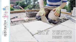 stone patio laying a natural stone patio diy part 1 youtube