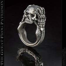 silver rings skull images Migraine skull ring the great frog paterson jpg