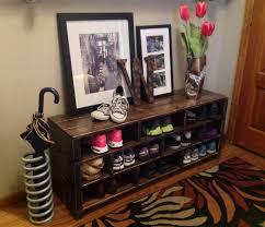 Entry Shoe Storage by Diy Industrial Entry Shoe Bench Homyxl Com