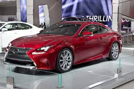 lexus red new lexus rc 350 shows off its luminous red paint in detroit
