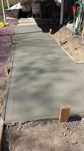 hardscape walkway poured concrete home and garden pinterest