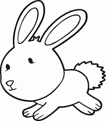 drawing a bunny rabbit best photos of rabbit outline drawing bunny