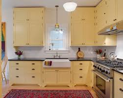 Yellow Kitchens With White Cabinets - yellow cabinets houzz