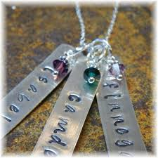 children s birthstone necklace custom sterling silver personalized birthstone necklace 3 three