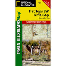 Map Store 125 Flat Tops Sw Rifle Gap Trail Map National Geographic Store
